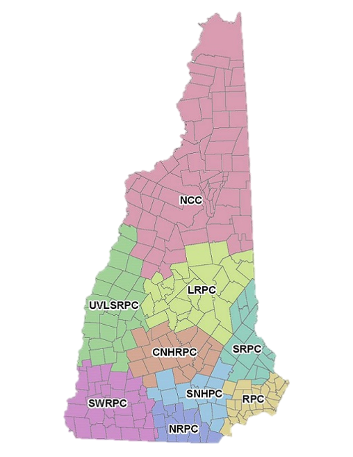 New Hampshire Association Of Regional Planning Commissions - Southern nh map